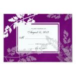 Romantic Nature/ Wedding Response Card Custom Invitations
