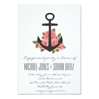 Romantic Nautical Engagement Party Invitation