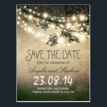 "romantic night lights rustic save the date postcard<br><div class=""desc"">Rustic save the date postcards with vintage grungy night string lights design. To change the font color or style please push customize it button.To see a full wedding set with this design please browse my store.</div>"