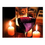 Romantic night postcard