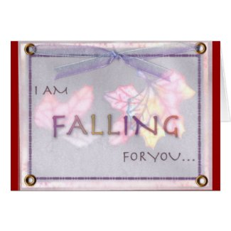 Romantic Note Card - I'm Falling for you Design