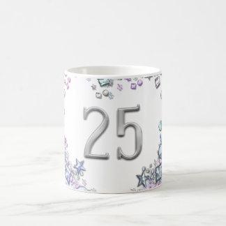 Romantic Number 25 Wedding Birthday Anniversary Coffee Mug