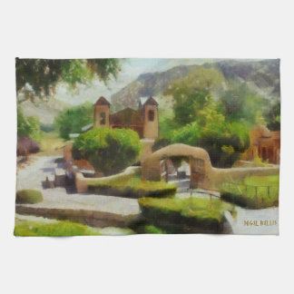 ROMANTIC OLD CHURCH, NEW MEXICO. HAND TOWEL