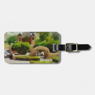 ROMANTIC OLD CHURCH, NEW MEXICO. LUGGAGE TAG