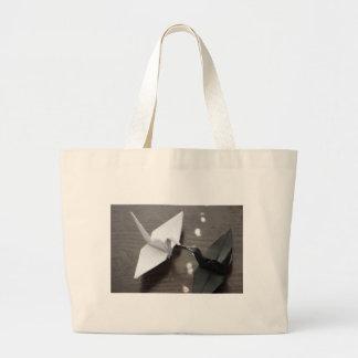 romantic origami cranes canvas bags