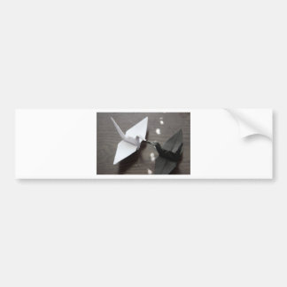 romantic origami cranes bumper sticker