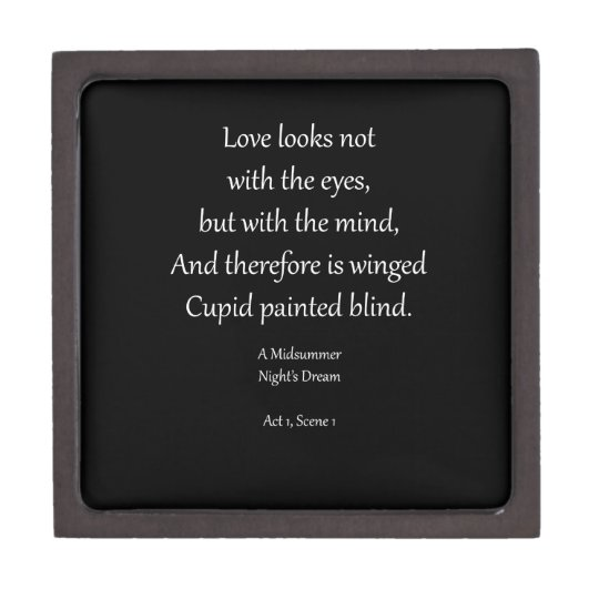 Romantic Ornaments & Gifts with Shakespeare Quotes Jewelry Box