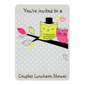 Romantic Owls Weddingl Shower for couples Card