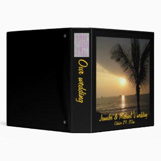 Romantic Palm Tree Beach Sunset Photo Album 3 Ring Binder