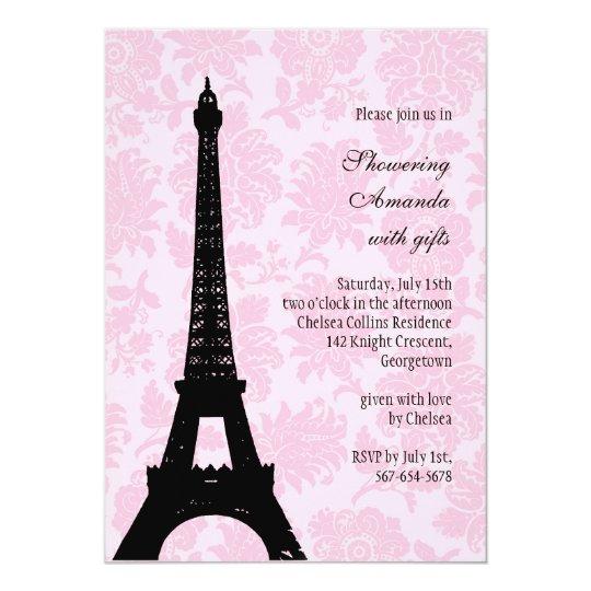 Romantic Paris Bridal Shower Card