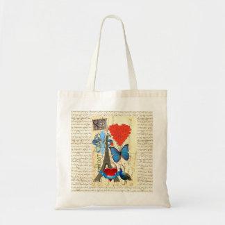 Romantic Paris collage Bag