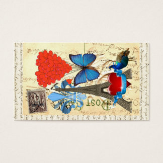 Romantic Paris collage Business Card
