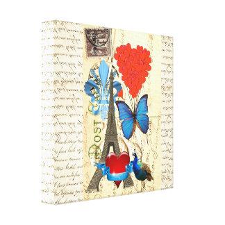 Romantic Paris collage Canvas Print