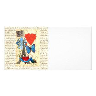 Romantic Paris collage Card