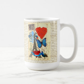 Romantic Paris collage Coffee Mug