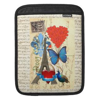 Romantic Paris collage iPad Sleeve