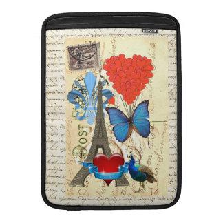 Romantic Paris collage MacBook Air Sleeve
