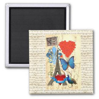 Romantic Paris collage Magnet