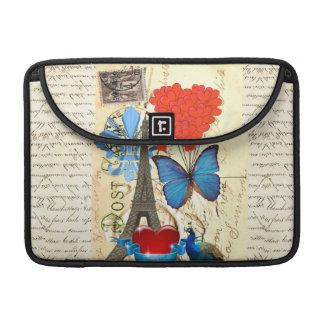 Romantic Paris collage Sleeve For MacBooks