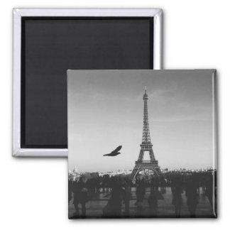 Romantic Paris Eiffel Tower Black and white Magnet
