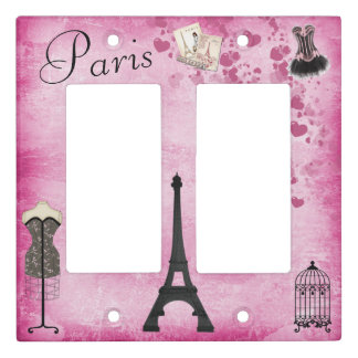 Romantic Paris Eiffel Tower Fashion Light Switch Cover