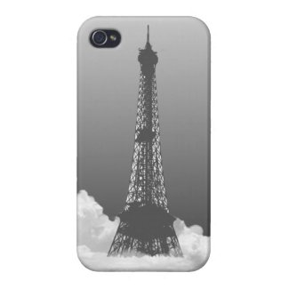 Romantic Paris Eiffel Tower in Cloud iPhone 4 Case