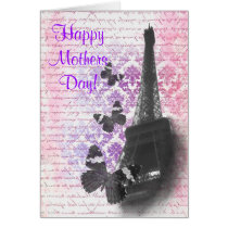 Romantic Paris  mothers day Card