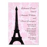 "Romantic Paris Rehearsal Dinner Invitation 5"" X 7"" Invitation Card"