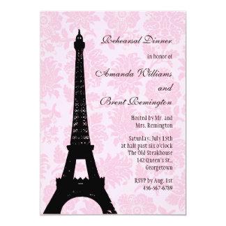 Romantic Paris Rehearsal Dinner Invitation