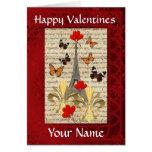 Romantic Paris  Valentines day Greeting Card