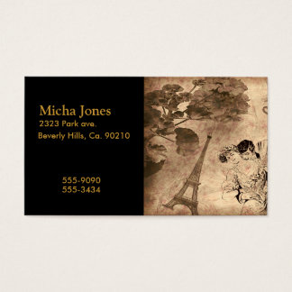 Romantic Paris Vintage Business Card
