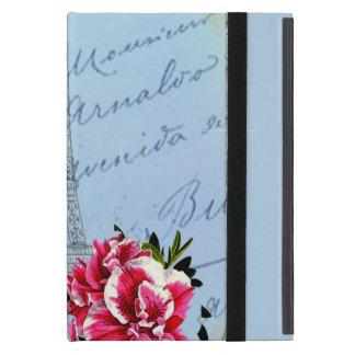 Romantic Paris Vintage Eiffel Tower & Rose Case For iPad Mini