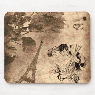 Romantic Paris Vintage Mouse Pad