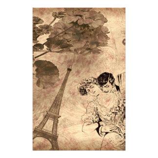 Romantic Paris Vintage Stationery Paper