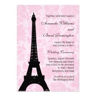 Romantic Paris Wedding Invitation