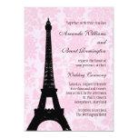 "Romantic Paris Wedding Invitation 5"" X 7"" Invitation Card"