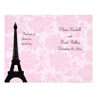 Romantic Paris Wedding Program