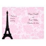 Romantic Paris Wedding Program Flyers