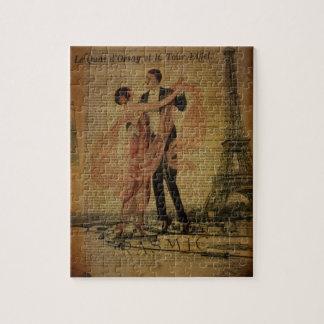romantic Paris Wedding Waltz ballroom dancers Jigsaw Puzzle