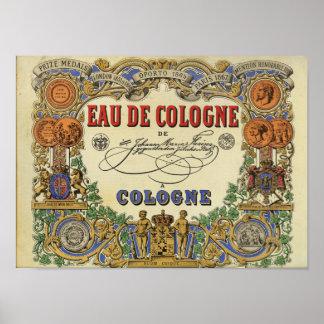 Romantic Parisian Perfume Image 1868 Poster