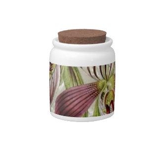 romantic parisian tropical french botanical orchid candy jar