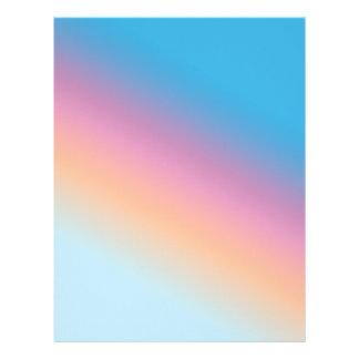 Romantic pastel colors letterhead