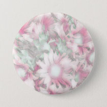 Romantic pastel floral,pink button
