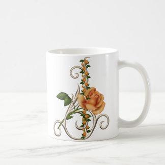 ROMANTIC PEACH ROSE COFFEE MUG