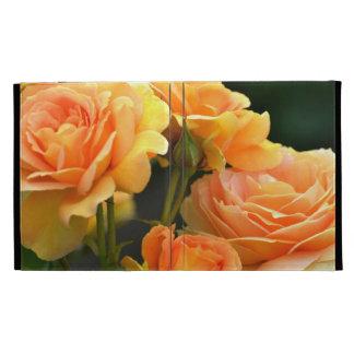 Romantic Peach Rose Floral iPad Cases