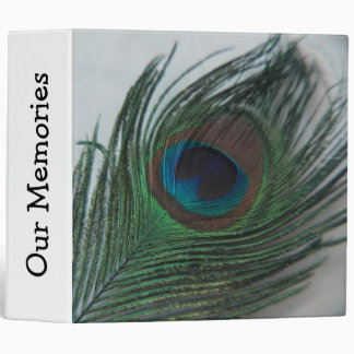Romantic Peacock Feather 3 Ring Binders