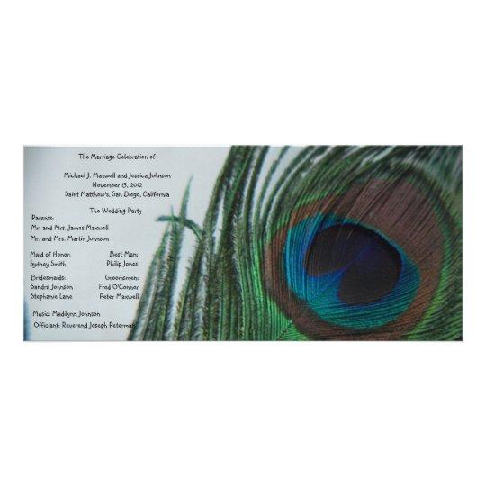 Romantic Peacock Wedding Program