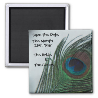 Romantic Peacock Wedding Save the Date Magnet