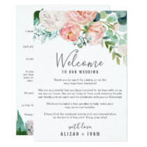 Romantic Peonies Welcome Letter & Itinerary Invitation