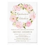 Romantic Peonies Wreath Graduation Invitation